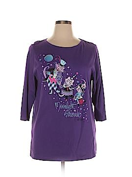 Bob Mackie 3/4 Sleeve T-Shirt Size XL