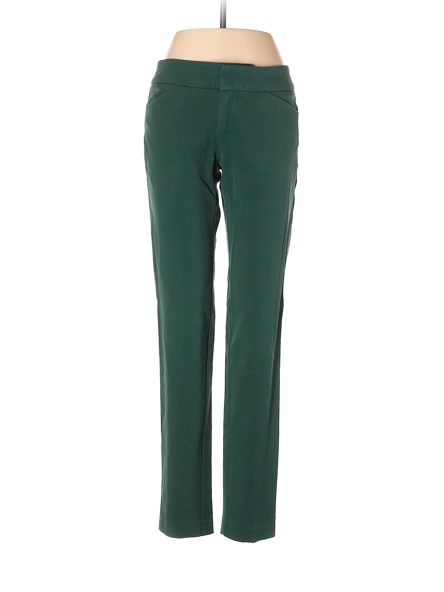 Cynthia Rowley Tjx Solid Dark Green Casual Pants Size 2