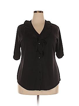Laura Scott Short Sleeve Button-Down Shirt Size 16 - 18W