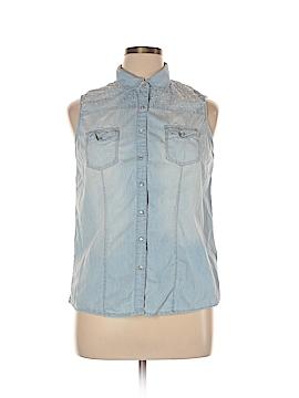 Roz & Ali Sleeveless Button-Down Shirt Size XL