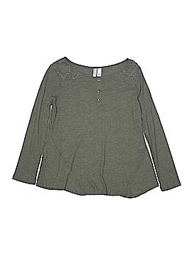 Xhilaration Long Sleeve Henley Size 10 - 12