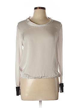 Giorgio Armani Long Sleeve Silk Top Size 42 (IT)