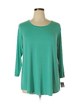 JM Collection 3/4 Sleeve T-Shirt Size 0X (Plus)