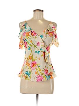 Amanda Uprichard Short Sleeve Blouse Size M