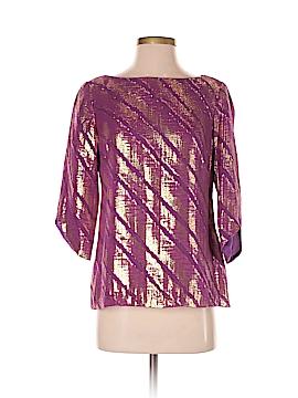 Trina Turk 3/4 Sleeve Silk Top Size S