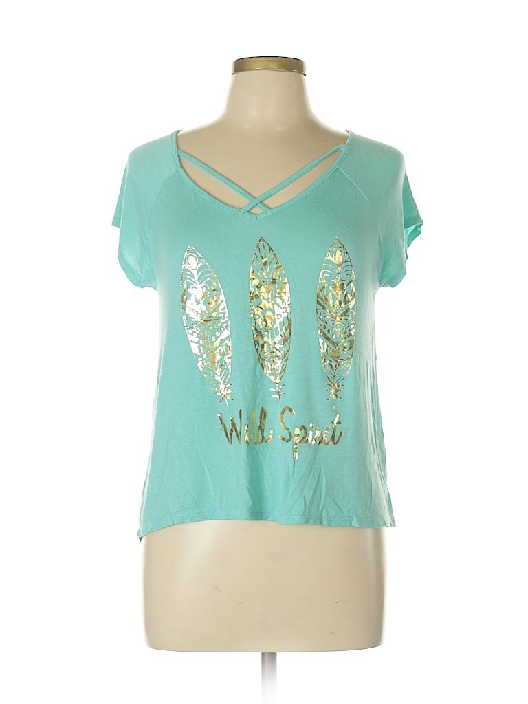 Papaya Women Short Sleeve Top Size L
