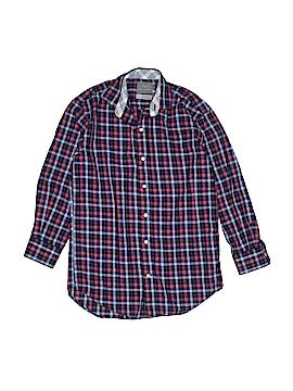 Thomas Dean Long Sleeve Button-Down Shirt Size 8