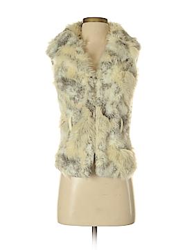 Blanc Noir Faux Fur Vest Size S