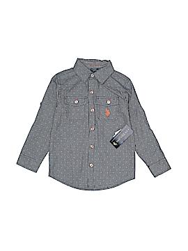 U.S. Polo Assn. Long Sleeve Button-Down Shirt Size 4T
