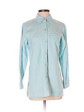 So Blue Sigrid Olsen Long Sleeve Button-Down Shirt Size XS