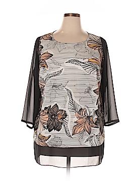 DKNYC 3/4 Sleeve Blouse Size 1X (Plus)