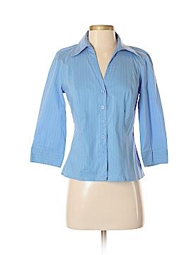 Apostrophe 3/4 Sleeve Button-Down Shirt Size 4