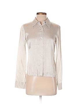 Agnes B. Long Sleeve Silk Top Size 6 (38)