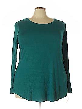 JM Collection Long Sleeve Blouse Size 2X (Plus)