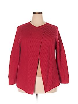 Adrienne Vittadini Wool Cardigan Size 2X (Plus)