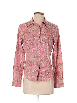 Peck & Peck Long Sleeve Button-Down Shirt Size 4