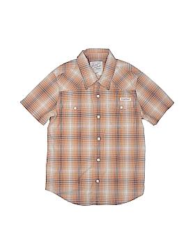 Lucky Brand Short Sleeve Button-Down Shirt Size 6