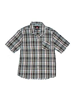 Quiksilver Short Sleeve Button-Down Shirt Size X-Large (Kids)
