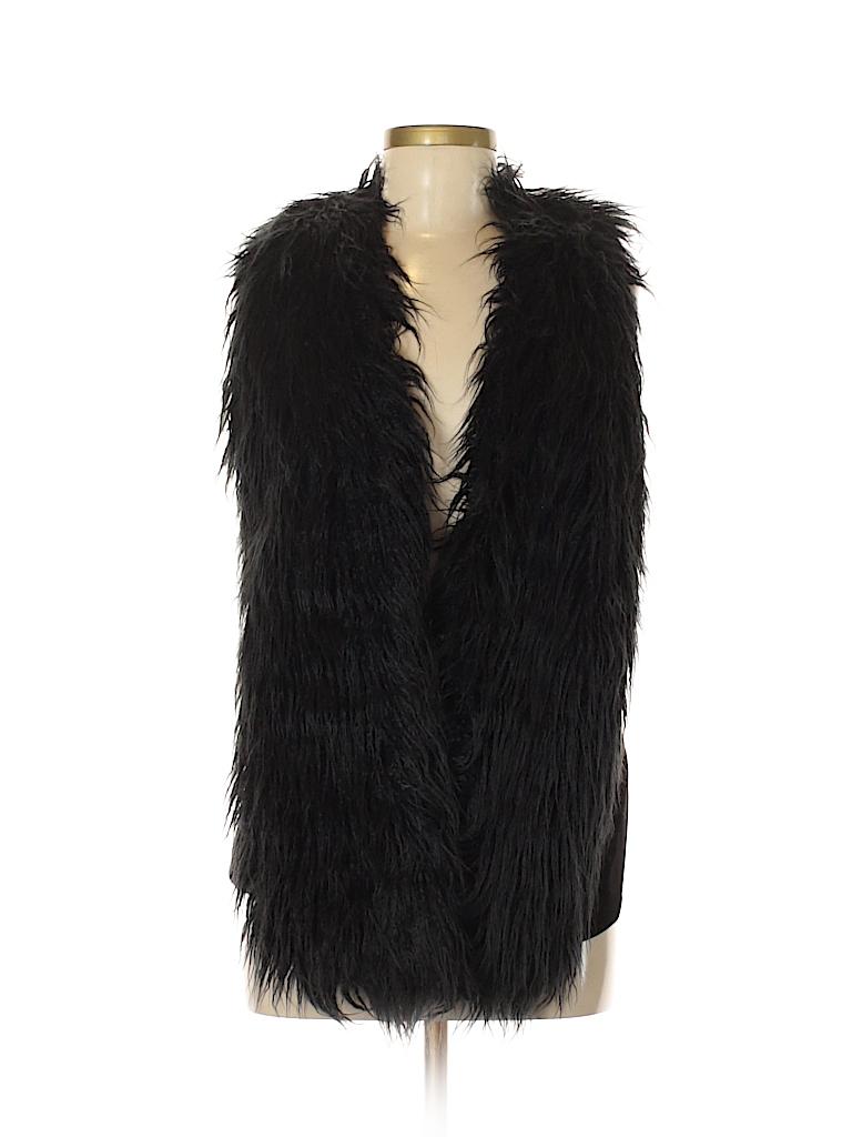 80b85d61f8f027 CAbi Solid Black Faux Fur Vest Size XS - 82% off