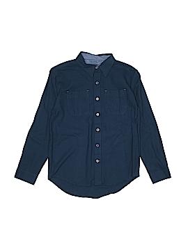 Pd&c Long Sleeve Button-Down Shirt Size 10
