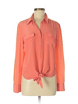 Antonio Melani Long Sleeve Silk Top Size M