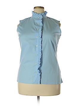Lands' End Sleeveless Button-Down Shirt Size 16