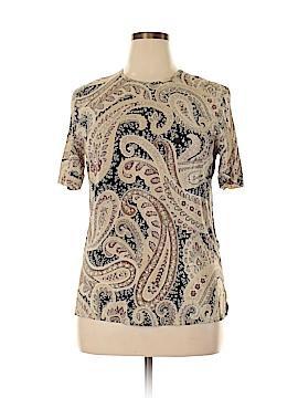 Rafaella Short Sleeve Silk Top Size 10