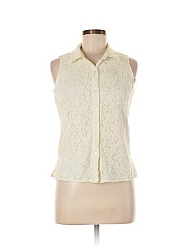 Calvin Klein Sleeveless Button-Down Shirt Size M (Petite)