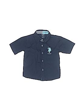 U.S. Polo Assn. Short Sleeve Button-Down Shirt Size 18 mo