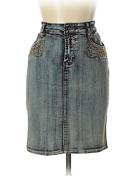 Cache Denim Skirt Size 17