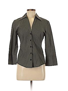 Harve Benard by Benard Haltzman 3/4 Sleeve Button-Down Shirt Size M