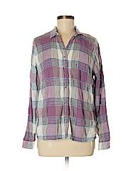 Woolrich Women Long Sleeve Button-Down Shirt Size L