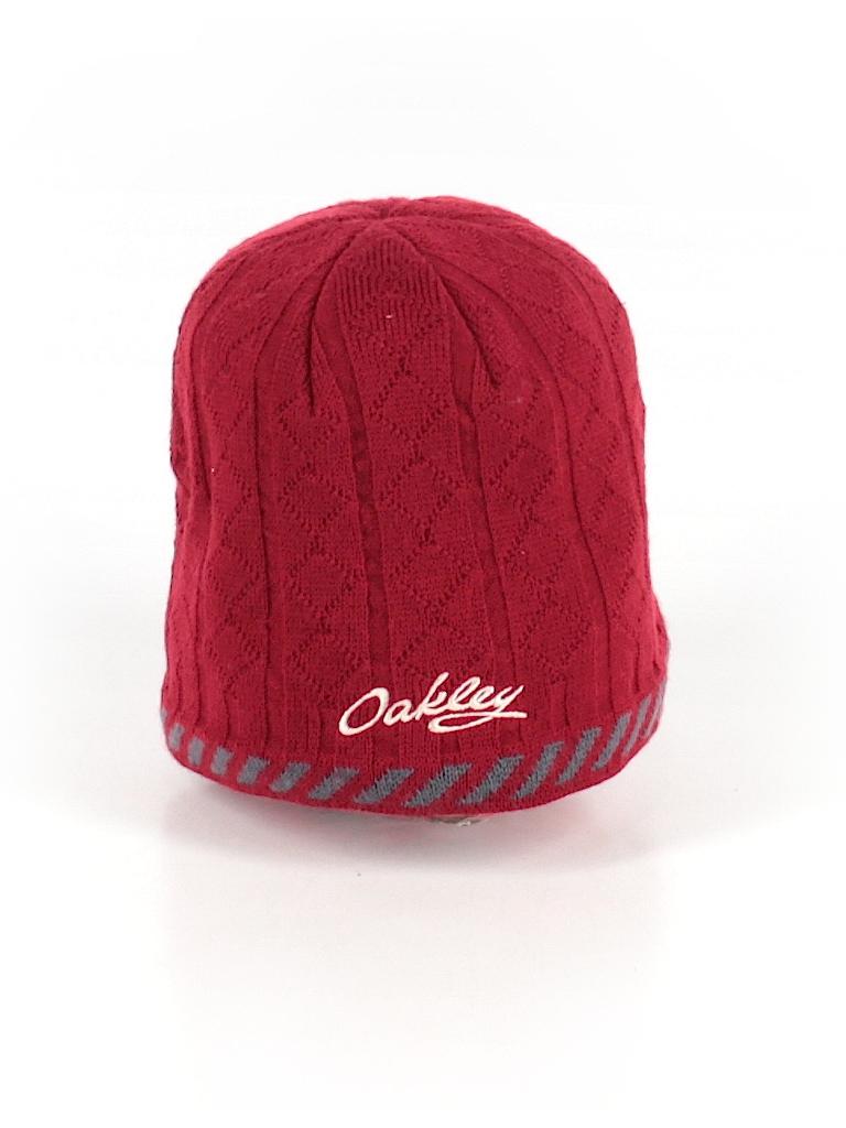 c92b9b7eaa2 Oakley 100% Acrylic Print Red Winter Hat One Size - 88% off