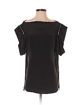 Plastic Island Short Sleeve Silk Top Size 6