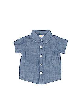 Healthtex Short Sleeve Button-Down Shirt Newborn