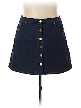 City Chic Denim Skirt Size 20W Plus (L) (Plus)