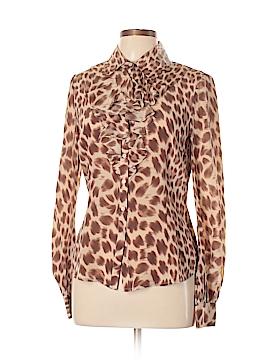 Newport News Long Sleeve Silk Top Size 10