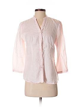 Tweeds 3/4 Sleeve Button-Down Shirt Size S