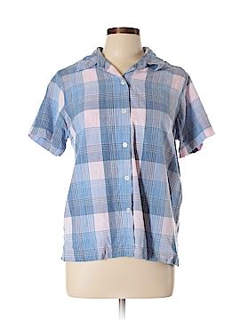 Fashion Bug Short Sleeve Button-Down Shirt Size L