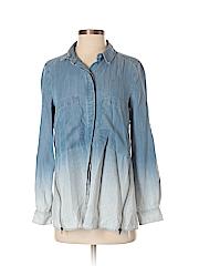 Hollister Women Long Sleeve Button-Down Shirt Size 2