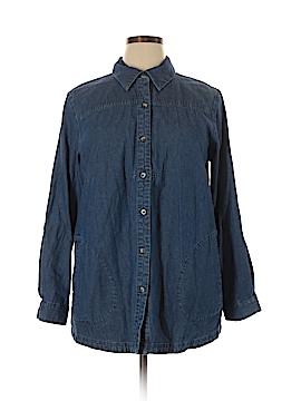 Joan Rivers Long Sleeve Button-Down Shirt Size L