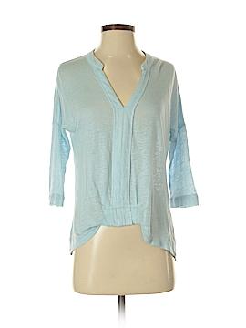 Blue Tassel 3/4 Sleeve Blouse Size XS