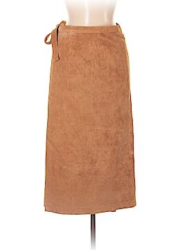 J. Peterman Leather Skirt Size 8