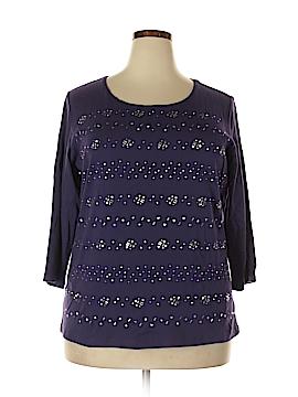 Karen Scott 3/4 Sleeve Top Size 1X (Plus)