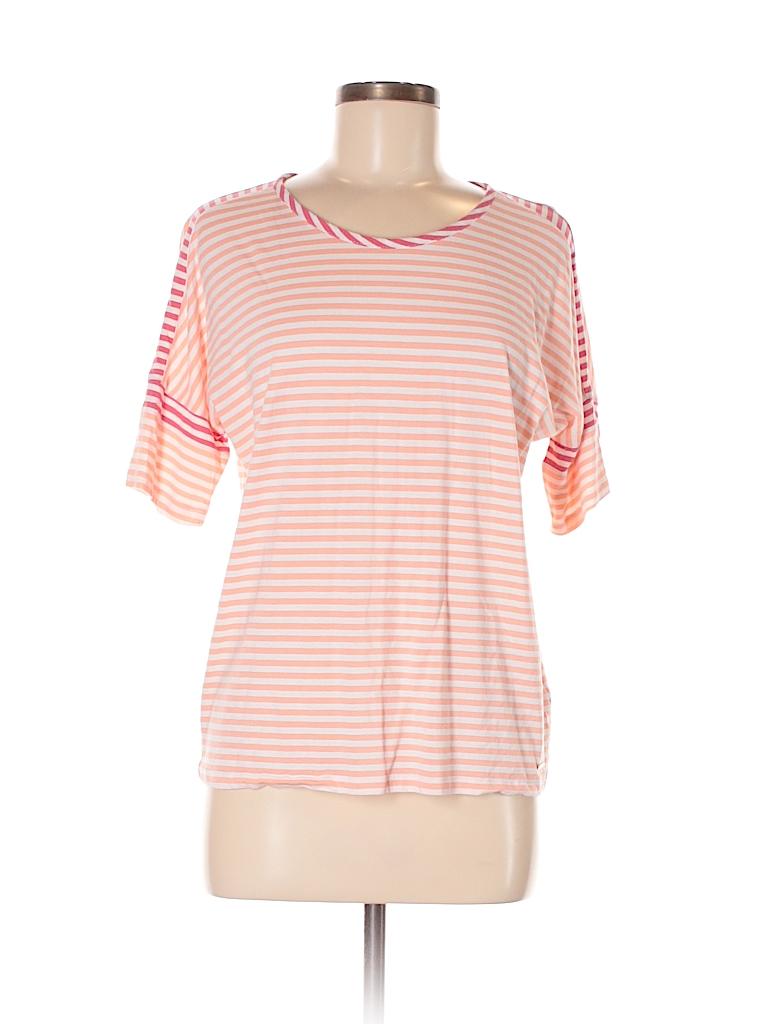 Tommy hilfiger stripes coral short sleeve t shirt size m for Tommy hilfiger shirt size chart
