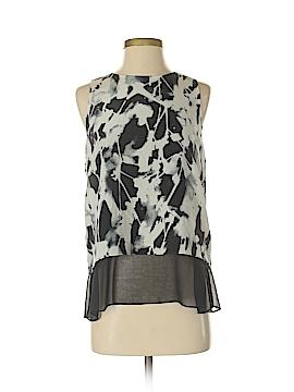 Waverly Grey Sleeveless Silk Top Size S