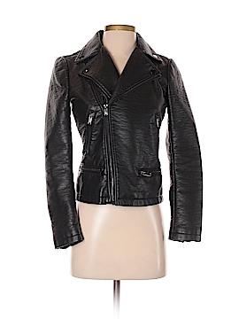 Zara Basic Faux Leather Jacket Size XS