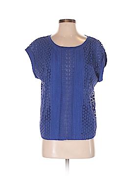 Color Block Short Sleeve Blouse Size M