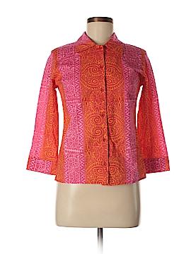 Marimekko 3/4 Sleeve Button-Down Shirt Size 6