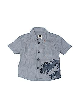 Tea Short Sleeve Button-Down Shirt Size 6-12 mo